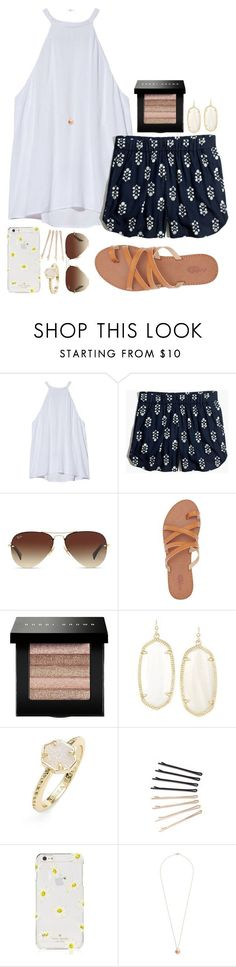 """""""Summer set"""" by izzycatherine ❤ liked on Polyvore featuring A.L.C., Madewell, Ray-Ban, Charlotte Russe, Bobbi Brown Cosmetics, Kendra Scott, ban.do, Kate Spade and Dorothy Perkins"""