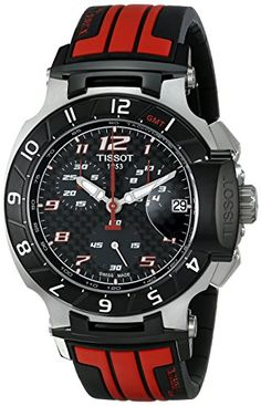 Men's Wrist Watches - Tissot Mens T0484172720701 TRace MotoGP Limited Edition Analog Display Swiss Quartz Red Watch ** You can get additional details at the image link.