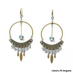 Comme une envie de bijoux qui scintillent pour les fêtes... Des B.O. avec des perles en verre aux mille reflets. C'est tellement chic ! #ladroguerie #bijoux
