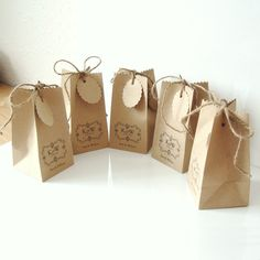 Square Base Wedding favour bags set of 5 NEW by shintashop on Etsy, £5.00