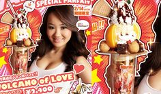 where do i even pin this one? Hooters Japan & Hello Kitty pair up to create a Special Parfait. thought of you @Diana Lin and Adi :)