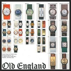 Old England Watches Look Book 1967-68