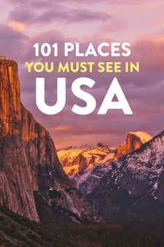 101 Must Visit Places in USA Bucket List Travel // Local Adventurer # Adventure Travel Bucket Lists 101 Places to Visit in USA - Your Ultimate USA Bucket List Voyage Usa, Voyage New York, Usa Places To Visit, Places To Travel, Vacation Places In Usa, Us Travel Destinations, Italy Vacation, Tourist Places In Usa, Vacation Spots
