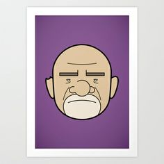 Faces of Breaking Bad: Mike Ehrmantraut Art Print by Rob Barrett — Nice Hot Cuppa