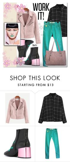 """""""Shein 3"""" by e-mina-87 ❤ liked on Polyvore featuring MM6 Maison Margiela and April 77"""