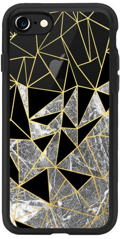 Casetify iPhone 7 Classic Grip Case - Marble Ab by Project M #Casetify #projectmgallery #black #gold #marble #geometric