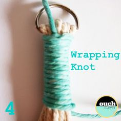How to make a wrapping knot. This actually is so smart!