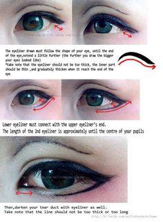 Ok so i made this quick tutorial on how to do cosplay makeup. More at [link] Cosplay eye makeup tutorial Anime Eye Makeup, Anime Cosplay Makeup, Anime Eyes, Costume Makeup, Kawaii Makeup, Cute Makeup, Makeup Looks, Makeup Inspo, Makeup Inspiration
