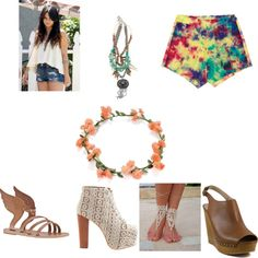 A fashion look from March 2013 featuring babydoll top, elasticated waist shorts and yoga sandals. Browse and shop related looks. Yoga Sandals, Festival Looks, Baby Dolls, Fashion Looks, Heels, Polyvore, Shopping, Style, Heel