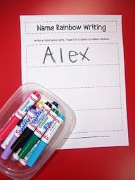 Mrs. Kellys Kindergarten: Another Round of Literacy Work Stations   great ideas for working with words centres