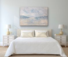 Blue Green Bedrooms, Blue Bedroom Walls, Coastal Master Bedroom, Peaceful Bedroom, Bedroom Wall Colors, Coastal Bedrooms, Bedroom Green, Light Gray Bedroom, Bedroom Decor For Women
