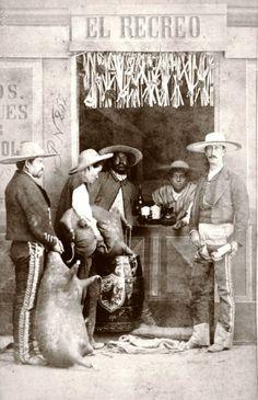 """LA IMAGEN DEL SIGLO.: EL ESTUDIO """"CRUCES Y CAMPA"""" (MÉXICO, 1860's) (Cantina)"""