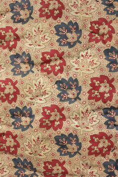 Antique French Pieced Quilt Pique Boutis 19th Century Lovely Fabrics | eBay
