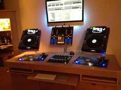 Flush fit Deck stand for 1210's and Mixer Plus pull out shelves--- Testimonial: Thanks again for an excellent job Website:www.sounddesks.co.uk