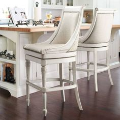 Elevate your home decor with comfortable and durable bar stools from Frontgate. Find high-quality, stylish kitchen counter stools and bar chairs online. Swivel Counter Stools, Kitchen Stools, Kitchen Island, Kitchen Banquette, Kitchen Countertops, Round Back Dining Chairs, Side Chairs, Bar Chairs, Room Chairs