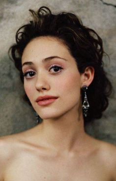 Emmy Rossum Long Hairstyle: Bobby Pinned Updo