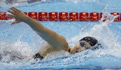 United States' Ariana Kukors competes in a women's 200-meter individual medley swimming heat at the Aquatics Centre in the Olympic Park during the 2012 Summer Olympics in London, Monday, July 30, 2012.