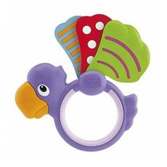 Get shaking away! Your little one will love playing with the colourful Baby Senses Parrot Rattle from the Chicco range!