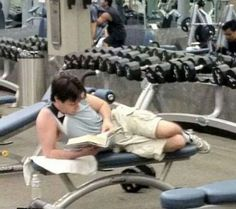 Texting While Weightlifting #gymfail