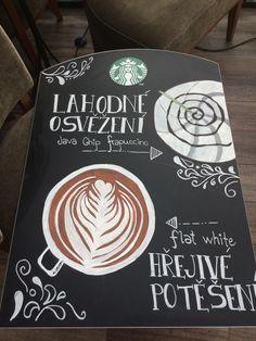 Chalkboard flatwhite frappuccino starbucks