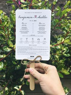 Wedding ceremony program paddle fan timeline illustration garden invitation simple white heart order of service bridal party card thank you ink hearts paper australia