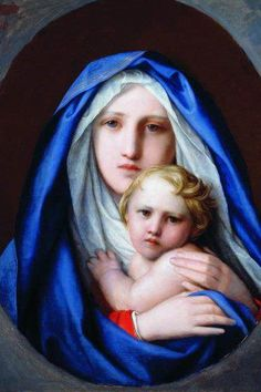 Virgin Mary n Son Jesus Mother Of Christ, Blessed Mother Mary, Divine Mother, Blessed Virgin Mary, Religious Images, Religious Icons, Religious Art, Prayer For Mothers, Images Of Mary