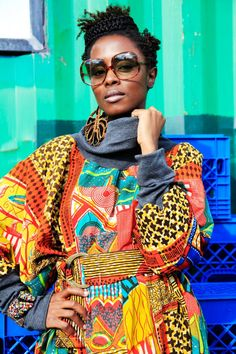 www.cewax.fr aime ces photos Mode femme afro tendance, style ethnique, tissus africains: wax, ankara, kente, kitenge, bogolan... African Fashion, ethno tendance, African Prints, African clothing -