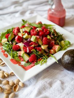 Raspberry and Pistachio Salad Recipe on Yummly. @yummly #recipe