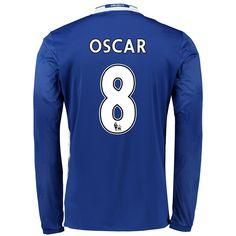 Chelsea 16 17 8 OSCAR LS Home Jersey Chelsea Football Shirt b39f6f7cb