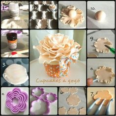 ...Large Peony - fondant or #Polymer #Clay #Flowers