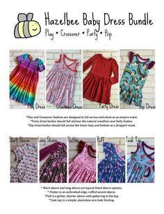 Hazelbee Baby Dress Pattern Bundle by HazelbeePatterns on Etsy https://www.etsy.com/listing/244286646/hazelbee-baby-dress-pattern-bundle