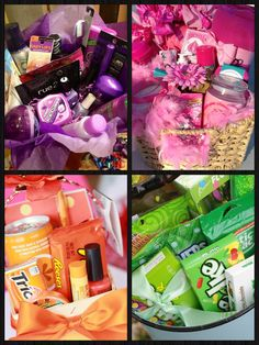 Favorite color themed gift baskets, what to get me for my bday next week
