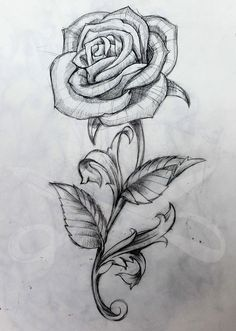 Rose and Stem More #RoseTattooIdeas