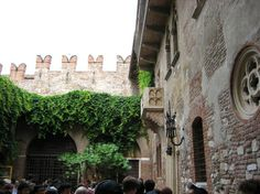 Juliet's Balcony, Verona, Italy. Shakespeare's star-crossed sweethearts declared undying love for one another here. Kiss beneath the balcony before parting, with such sweet sorrow.