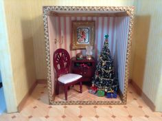 Wooden Christmas room box. 10/29/2014