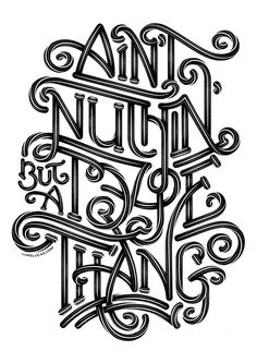 ain't nuthin' but a type thang :: luke lucas Typography Love, Typography Quotes, Typography Letters, Graphic Design Typography, Lettering Design, Hand Lettering, Inspiration Typographie, Typographie Logo, Hand Drawn Type