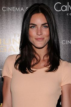 Hilary Rhoda  Love the contrast of her dark hair and blue eyes!