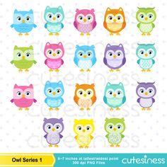 Owl Digital Clipart  Owl clip art Owl Clipart Sleeping Owl