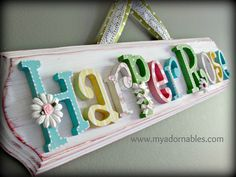 primitive style custom typography name sign - wall art for children in whimsical lowercase or capital times font. ** (in whimsical wide lowercase font = Skylar)    In pairing an aged artistic appeal with darling ornate details, My Adornables™ offers inspiring decorative selections and timeless gifts with heirloom quality and endless potential. This listing is for (1) limited edition, customizable plaque with elegant bevel -- hand painted/crafted, lovingly distressed/aged and in...