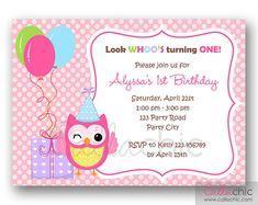 Buho 1 invitación de cumpleaños para imprimir niña / por CallaChic