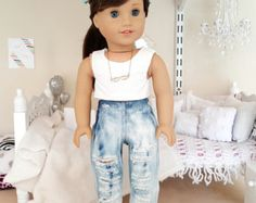 mameluco blanco muñeca de 18 pulgadas por SewCuteForever en Etsy