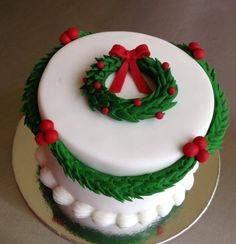 Christmas Cake by Charmed Creation Cakes, Elizabeth, South Australia.  You'll find this Cake Appreciation Society Member in our Directory at www.cakeappreciationsociety.com