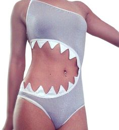 Amazon.com: Sandbank Women's One Piece Shark's Mouth Swimsuit Bikini Beachwear Tankini: Clothing