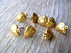 Post Earring Findings  Jewelry Making  Brass by 2VintageGypsies