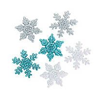 Snowflake String Decorations. Having a holiday party or winter dance? Create a glittering, twirling snowflake effect by hanging these fabulous blue and silver ...