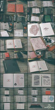 The Notebooks Bundle: 50 gorgeous notebook mockups!