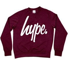 HYPE. Clothing — HYPE.MAROON CREW on Wanelo