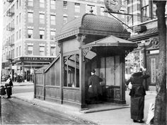 Early 1900s Manhattan Subway Station Entrance, New York City