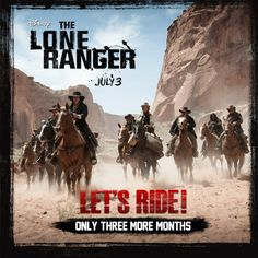 3 months until The Lone Ranger rides into theaters. Repin this if you can't wait!     #theloneranger #loneranger #lone ranger #JohnnyDepp #depp #armiehammer #armie hammer #helenabonhamcarter #hbc #movie #movies #celebrity #celeb #celebs #actor #actress #gorgeous