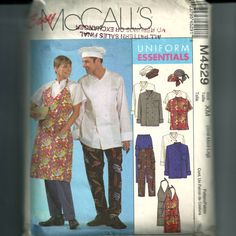 McCall's Misses' and Men's Chef Jacket and Apron by NewAgain, $9.00